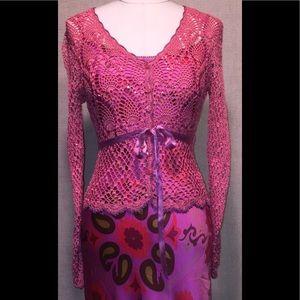 Betsey Johnson New York label crochet blouse NWOT